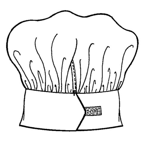 coloring page chef hat paragraph chef hats colouring pages page 3 cliparts co