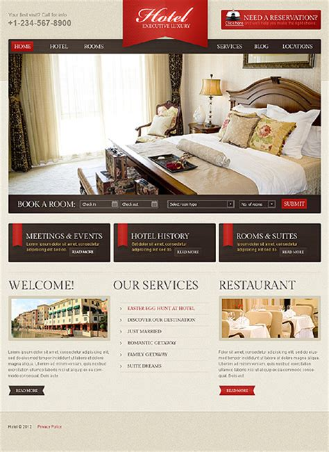 hotel website templates for asp net template 42899 hotel royal wordpress theme
