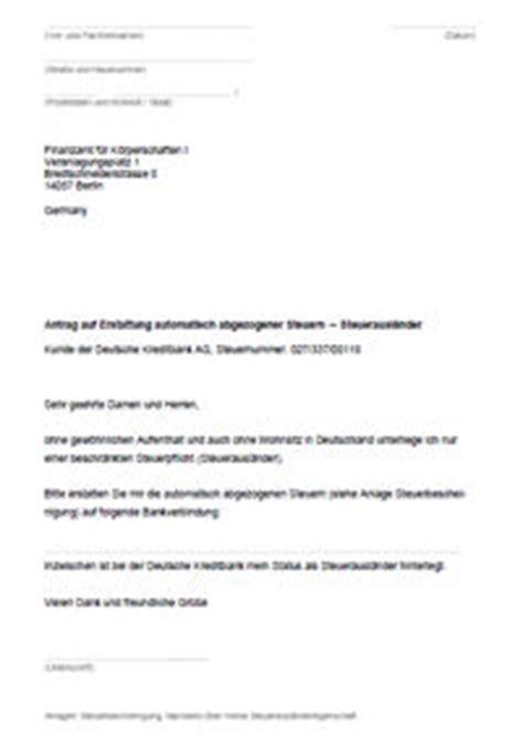Bank Bearbeitungsgebühr Zurückfordern Holen Musterbrief Dkb Konto Depot F 252 R Steuerausl 228 Nder Steuerfrei