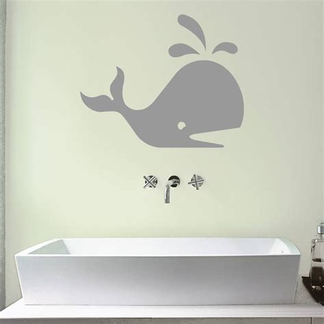 wall sticker for bathroom whale bathroom vinyl wall sticker by mirrorin notonthehighstreet