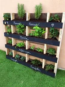 How To Make A Vertical Pallet Herb Garden 130 Inspired Wood Pallet Projects