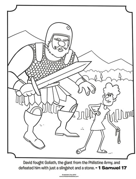 Coloring Page Goliath by David And Goliath Coloring Pages Coloring Home