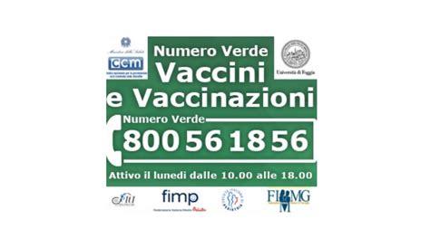 numero verde nuova il nuovo numero verde vaccini e vaccinazioni 800 561856