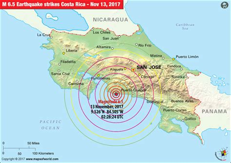 earthquake costa rica costa rica earthquake map earthquakes in costa rica