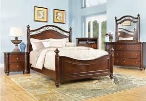 laurel view cherry 7 pc king poster bedroom bedroom sets