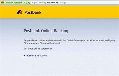 das geht gar nicht eher naiv als clever postbank