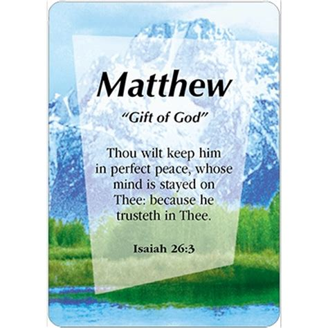 Meaning Of Mat by Matthew Name Card Daydream Cards