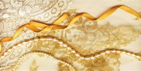 Wedding Background Golden Yellow by Golden Textile Wedding Background Stock Photo Colourbox