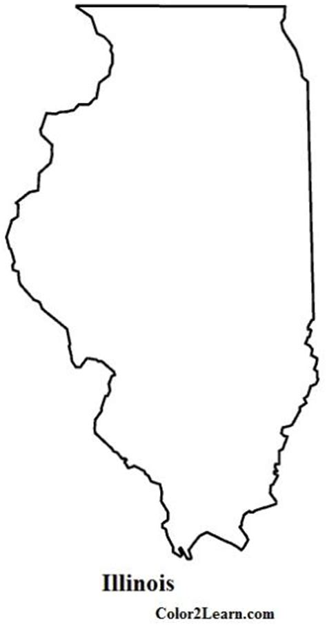 Coloring Page Map Of Illinois | illinois flag and map coloring pages