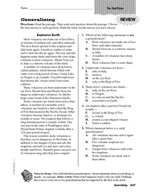 generalizing worksheet lesson planet 4th grade