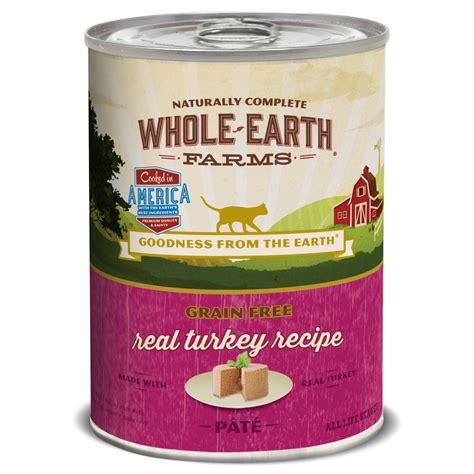 whole earth food whole earth farms grain free turkey recipe cat food petco
