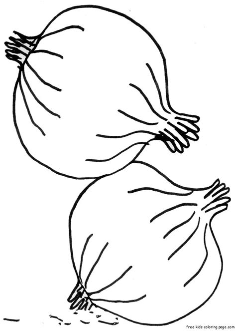 printable vegetable onion coloring page for kidsfree