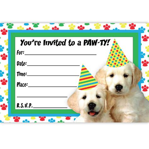 birthday card template for dogs invitations theruntime