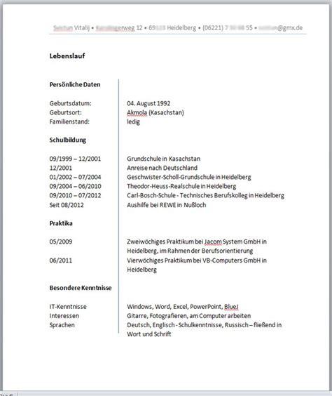 Lebenslauf Ausbildung Berufsschule Angeben Beispiel Lebenslauf Fachinformatiker Bewerten Bewerbungsforum