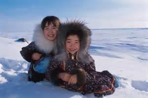 1184189 portrait inupiat eskimo children winter nome ak