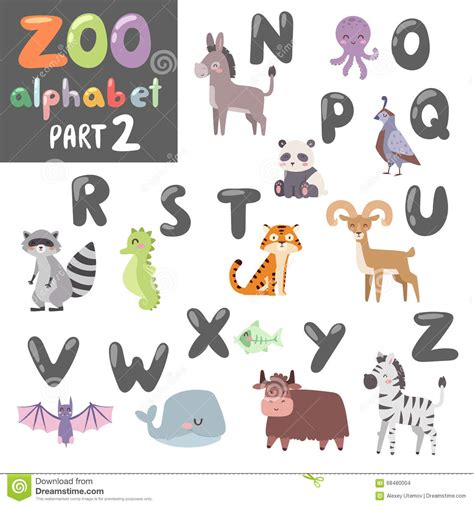 and animal motifs colorful stones applications some designers offer cartoon english alphabet with animals cartoon vector