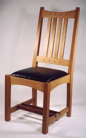 contemporary craftsman dining chair oak