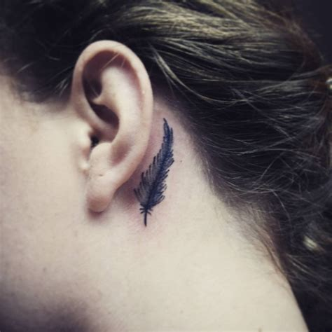 feather behind ear tattoo 38 amazing feather the ear tattoos
