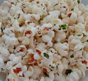 colorful popcorn happier than a pig in mud colored popcorn