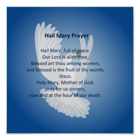 testo the prayer hail prayer poster zazzle