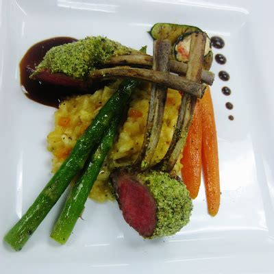 Herb Crusted Rack Of With Wine Jus by Pomegranate Butter Menu Showcase 2