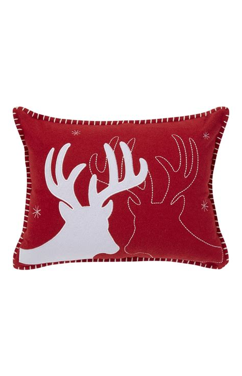 primark cusions a really attractive and comfortable red felt reindeer