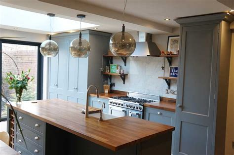 industrial style shaker kitchen lancaster handcrafted