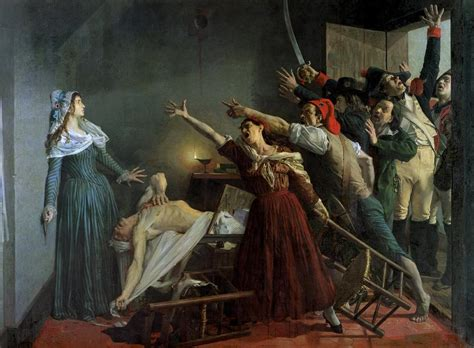 french revolution painting bathtub the assassination of marat by jean joseph weerts