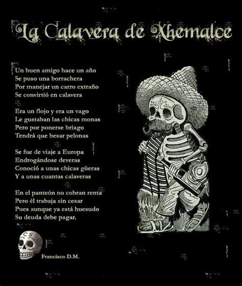 versos para el dia de los muertos calavera dia de muertos versos dia de muertos 191 por