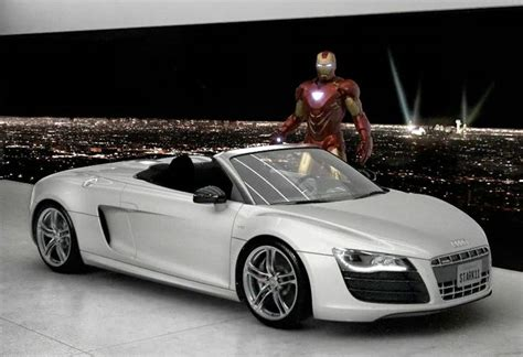 robert downey jr audi r8 pin by christopher novack on and tv vehicles