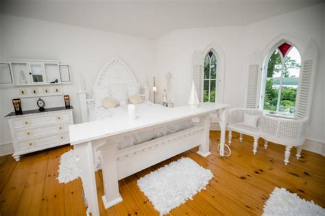 Delightful Small Dining Room Ideas #7: White-Gothic-Ecelectic-Bedroom.jpg