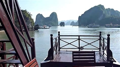 halong bay boat trip ha long bay junk boat trip vietnam youtube