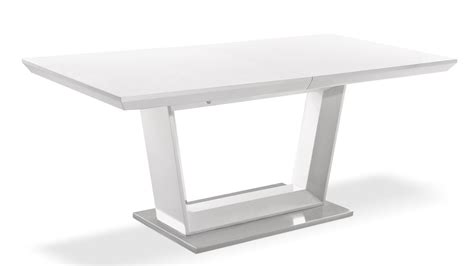Stainless Steel Dining Tables Modern Extending White Lacquer And Stainless Steel Dining Table Zuri Furniture