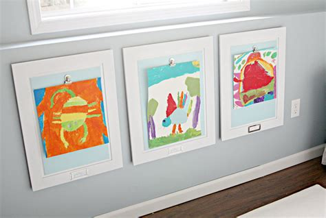 how to display art prints displaying kids artwork how to display kids artwork