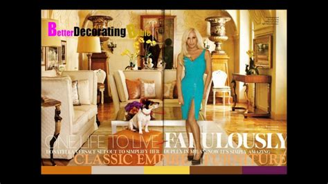 Celebrity Homes Decor celebrity homes donatella versace youtube