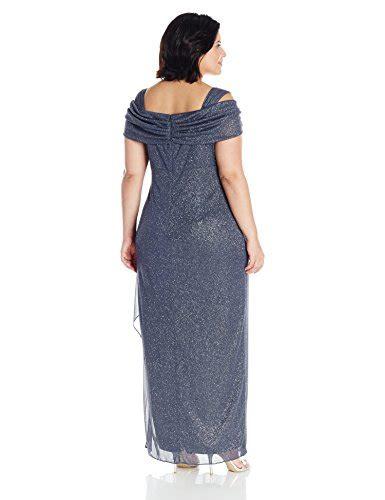 alex evenings side ruched dress plum alex evenings s plus size cold shoulder dress
