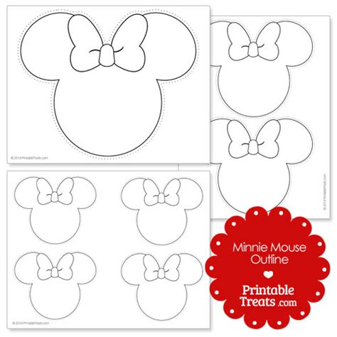 free minnie mouse head printables images
