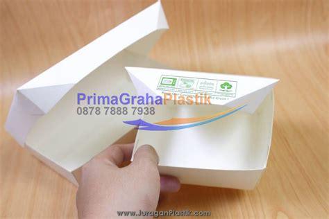 Paper Lunch Box Small Paper Box Bento Small Box Bekal lunch box paper hamburger nasi goreng martabak small