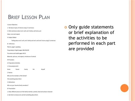 components of a lesson plan template lesson plan