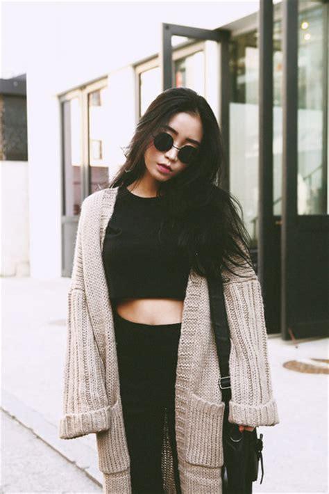 Sweater Wanita Korea I Am Sad Top Blue sweater cardigan streetstyle awsome black