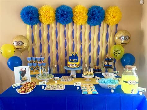 birthday themes minions alex s 5th minion birthday party my funnest setup yet
