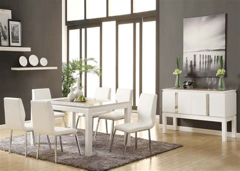 acme dining room sets acme kilee 9pc modern dining room set in white by dining