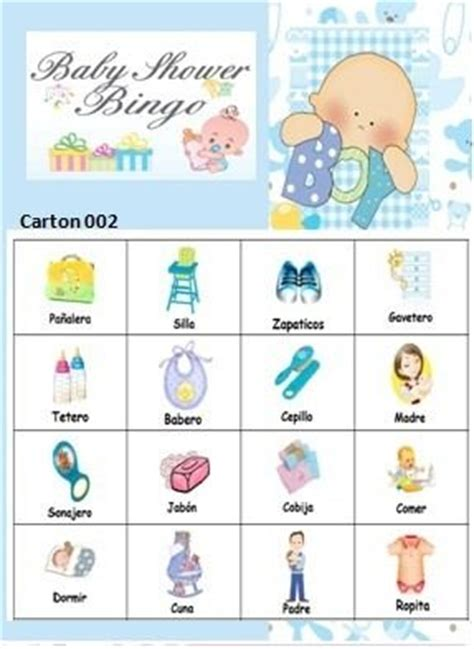 Bingo Para Baby Shower En Español by The Gallery For Gt Juegos De Baby Shower Bingo
