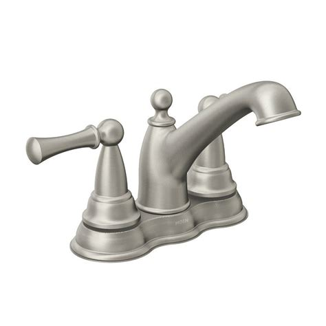 kitchen sink faucets moen moen sage watersense bathroom sink faucet lowe s canada