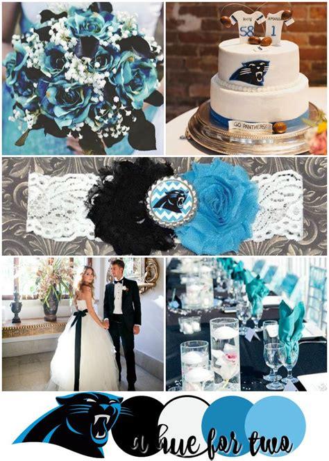 carolina panthers bowl 50 wedding color scheme black white and turquoise wedding
