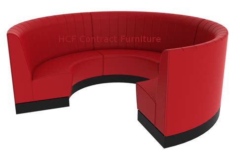 booth seating large 3 4 circle with plinth base