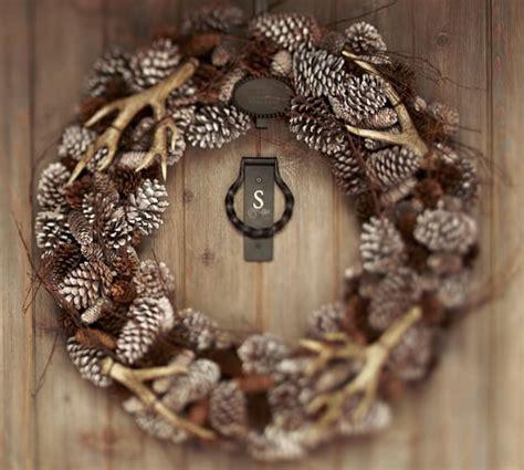 faux wreaths faux antler wreath pottery barn