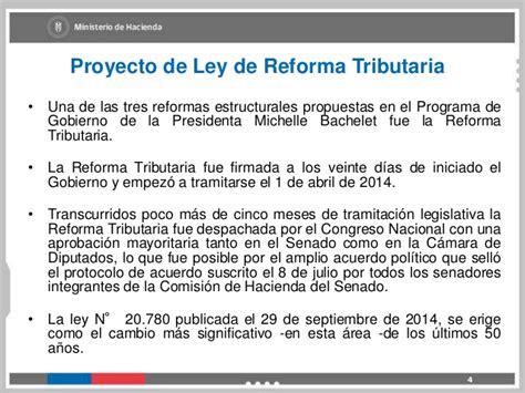ley 20780 sobre reforma tributaria publicada el 29 de principales reformas reforma tributaria 2014