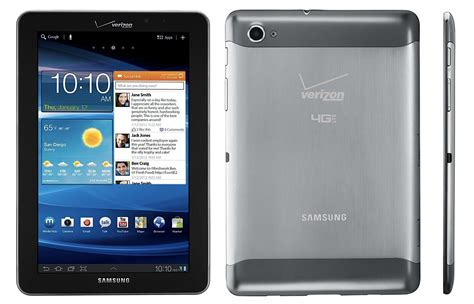 Samsung Tab 1 7 verizon confirms march 1 for the galaxy tab 7 7 lte also
