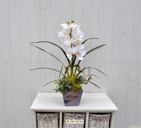orchidea fiori secchi composizioni fiori finti orchidee df35 pineglen